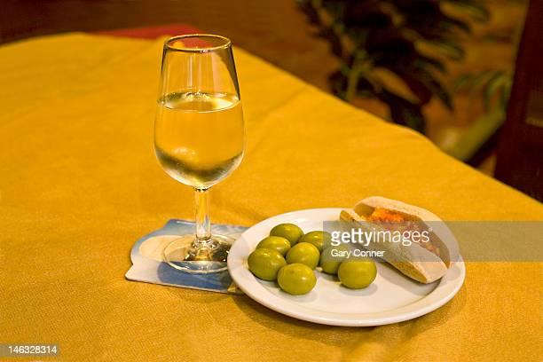Fino sherry with tapas