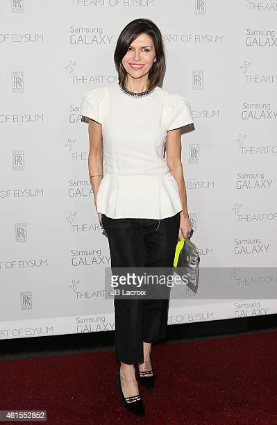 Finola Hughes attends the The Art Of Elysium 8th Annual Heaven Gala at Hangar 8 on January 10 2015 in Santa Monica California