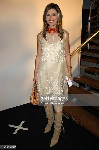 Finola Hughes during MercedesBenz Fashion Week Spring Collections 2003 Marc Jacobs Show Arrivals at Maritime Hotel in New York City New York United...