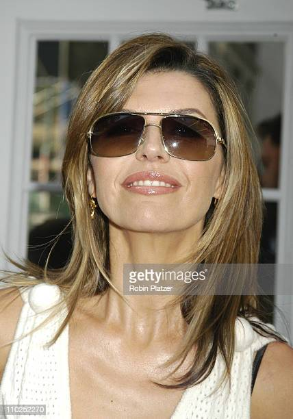 Finola Hughes during Olympus Fashion Week Spring 2006 Rosa Cha Spring 2006 Fashion Show Arrivals at The Tents at Olympus Fashion Week in New York New...