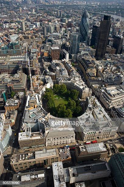 Finsbury Circus London 2006 Aerial view of the circus surrounded by the City landscape Artist Historic England Staff Photographer