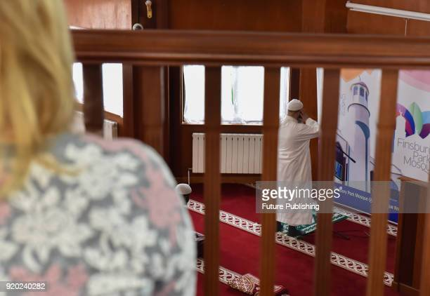 Finsbury Park Mosque opens its doors to any visitors of any faith and none for Visit My Mosque Day on February 18 2018 in London England Worshippers...