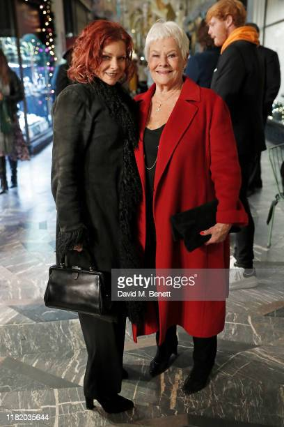 Finty Williams and Dame Judi Dench attend the launch of the 200th Burlington Christmas at Burlington Arcade on November 12, 2019 in London, England.