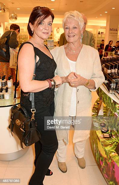Finty Williams and Dame Judi Dench attend the Shop with the Stars, a public shopping evening to celebrate The Olivier Awards with MasterCard, to...