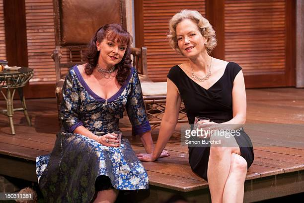 Finty Williams and Jenny Seagrove at the photocall for the recently re-discovered Noel Coward play Volcano at Vaudeville Theatre on August 15, 2012...