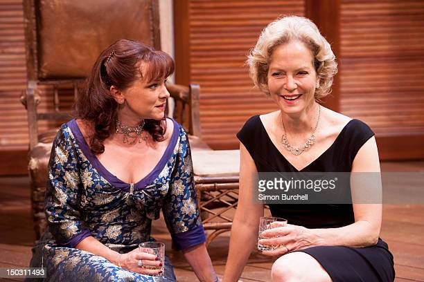 Finty Williams and Jenny Seagrove at the photocall for the recently rediscovered Noel Coward play Volcano at Vaudeville Theatre on August 15 2012 in...