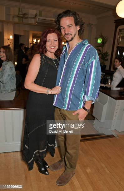 Finty Williams and Joseph Timms attend the press night after party for The Night Of The Iguana at Browns on July 16 2019 in London England