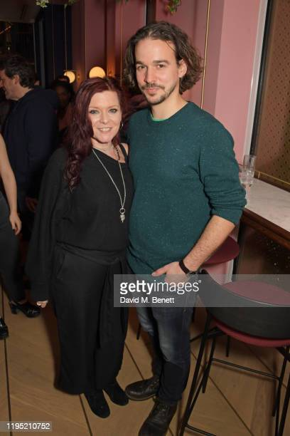 "Finty Williams and Joseph Timms attend the press night after party for ""The Sunset Limited"" at The Boulevard Theatre on January 21, 2020 in London,..."
