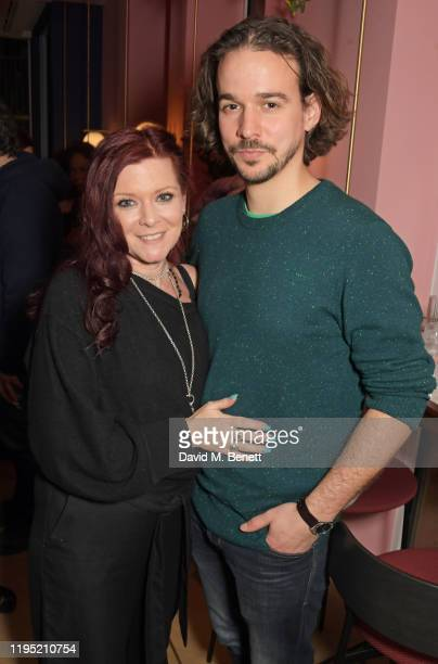 Finty Williams and Joseph Timms attend the press night after party for The Sunset Limited at The Boulevard Theatre on January 21 2020 in London...