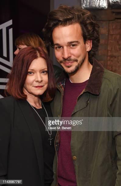 Finty Williams and Joseph Timms attend the press night performance of The Last Temptation Of Boris Johnson at The Park Theatre on May 13 2019 in...