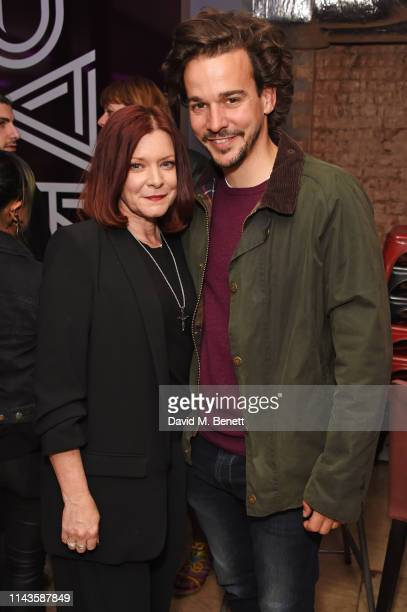 "Finty Williams and Joseph Timms attend the press night performance of ""The Last Temptation Of Boris Johnson"" at The Park Theatre on May 13, 2019 in..."