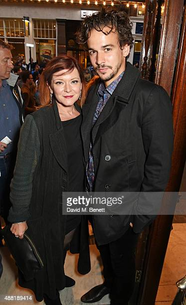 Finty Williams and Joseph Timms attend the press night performance of Photograph 51 at the Noel Coward Theatre on September 14 2015 in London England