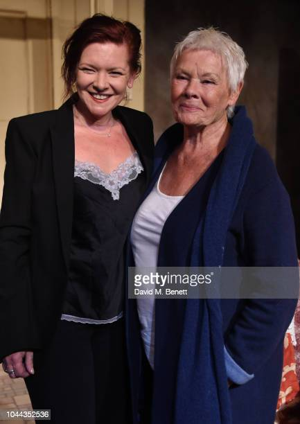 "Finty Williams and Judi Dench attend the press night after party for ""Pack Of Lies"" at The Menier Chocolate Factory on October 1, 2018 in London,..."