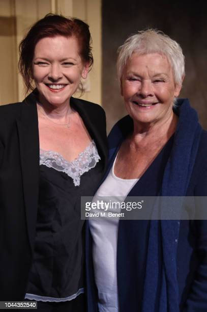 Finty Williams and Judi Dench attend the press night after party for Pack Of Lies at The Menier Chocolate Factory on October 1 2018 in London England