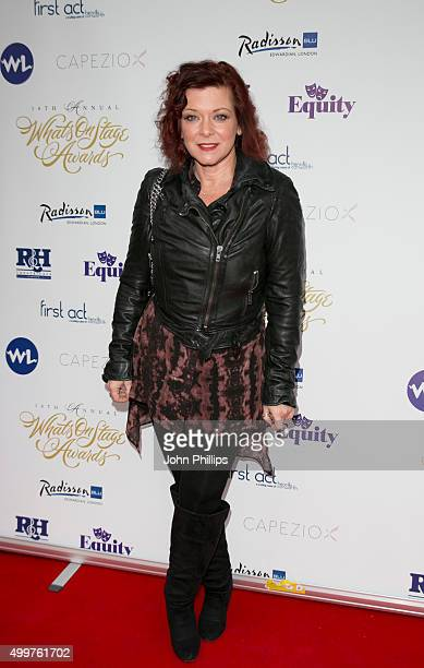 Finty Williams attends the Launch Party for the 16th annual Whatsonstage Awards at Cafe de Paris on December 3 2015 in London England