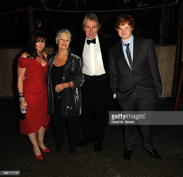 Finty Williams, Dame Judi Dench, David Mills and Sam Williams arrive at the Shakespeare's Globe Gala Dinner hosted by Zoe Wanamaker on October 17,...