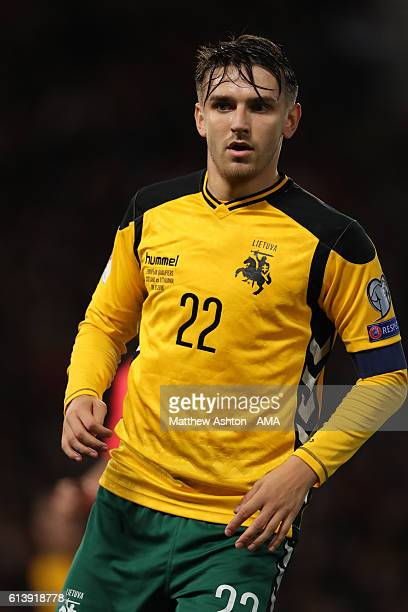 Fiodor Cernych of Lithuania during the FIFA 2018 World Cup Qualifier between Scotland and Lithuania at Hampden Park on October 8 2016 in Glasgow...