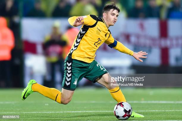 Fiodor Cernych of Lithuania during the FIFA 2018 World Cup Qualifier between Lithuania and England on October 8 2017 in Vilnius Lithuania