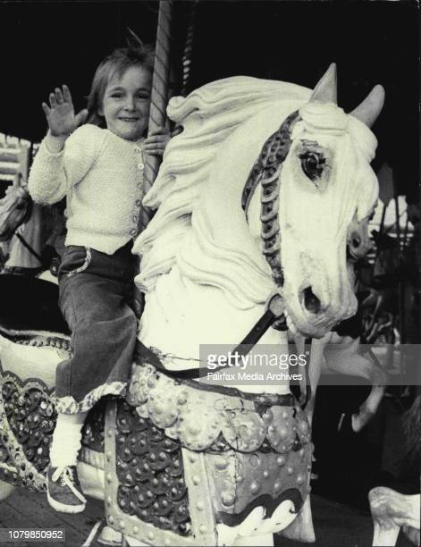 Fiona Allon of Engadine enjoying herself on the merrygoround roundChildren of Sydney trade unionists enjoy a free day at Luna Park as part of the 8...