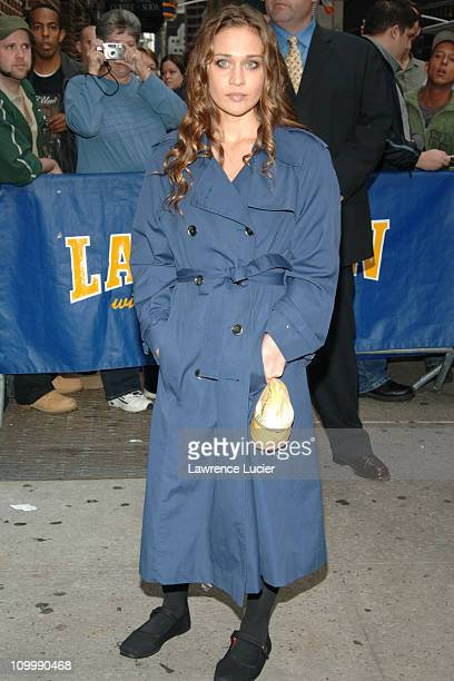 Fiona Apple during Fiona Apple Appears Outside The Late Show with David Letterman October 11 2005 at Ed Sullivan Theater in New York City New York...