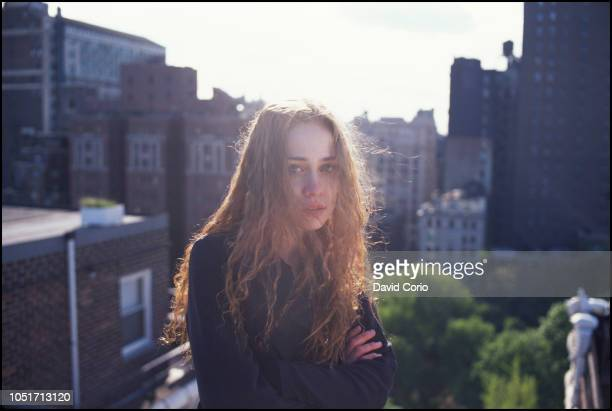 Fiona Apple portrait on rooftop at Gramercy Park New York 14 May 1997