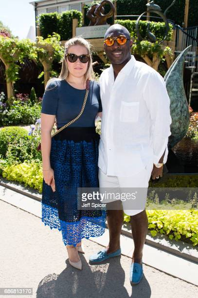 Fiona Barratt and Sol Campbell attend RHS Chelsea Flower Show press day at Royal Hospital Chelsea on May 22 2017 in London England