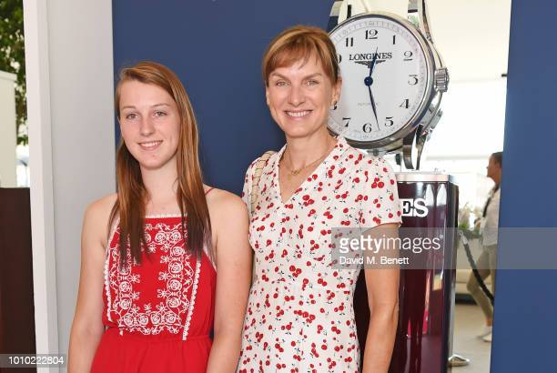 Fiona Bruce and daughter Mia Sharrocks attend the Longines hospitality lounge during the Global Champions Tour at Royal Hospital Chelsea on August 3...