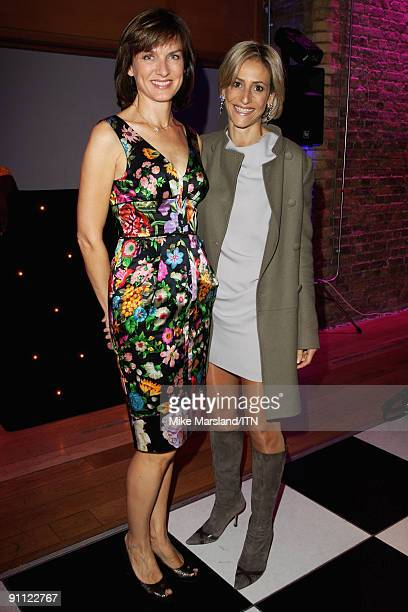 LONDON ENGLAND SEPTEMBER 24 Fiona Bruce and Emily Maitlis pose ahead of the 'Newsroom�s Got Talent' event held in aid of Leonard Cheshire Disability...