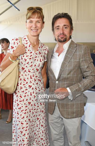 Fiona Bruce and Richard Hammond attend the Longines hospitality lounge during the Global Champions Tour at Royal Hospital Chelsea on August 3, 2018...