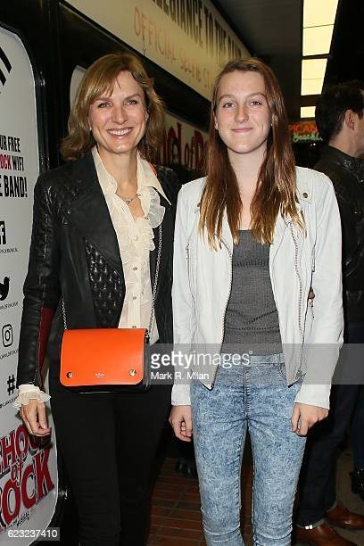 Fiona Bruce attending the School of Rock the musical VIP press night on November 14 2016 in London England