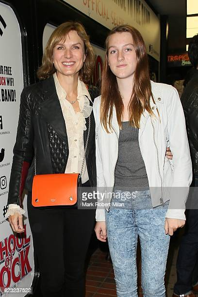 Fiona Bruce attending the School of Rock the musical VIP press night on November 14, 2016 in London, England.