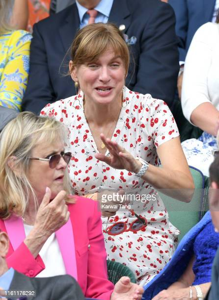 Fiona Bruce attends day nine of the Wimbledon Tennis Championships at All England Lawn Tennis and Croquet Club on July 10, 2019 in London, England.