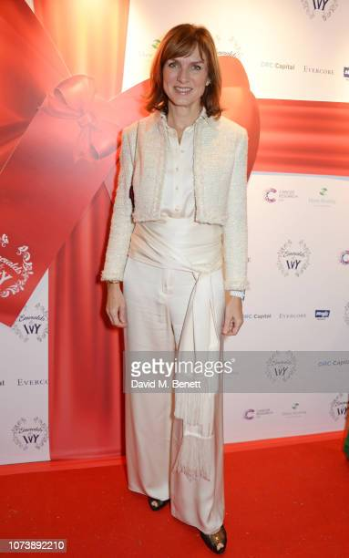 Fiona Bruce attends the 12th annual Emeralds Ivy Ball in aid of Cancer Research UK and The Marie Keating Foundation at The Royal Horticultural Halls...