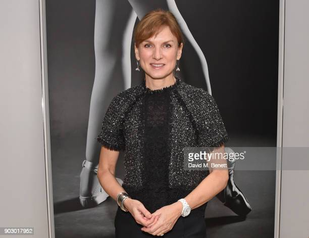Fiona Bruce attends the opening night drinks reception for the English National Ballet's Song Of The Earth / La Sylphide at St Martins Lane on...