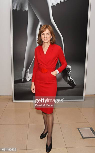 Fiona Bruce attends the opening night reception of the English National Ballet's production of Giselle hosted by St Martins Lane on January 11 2017...
