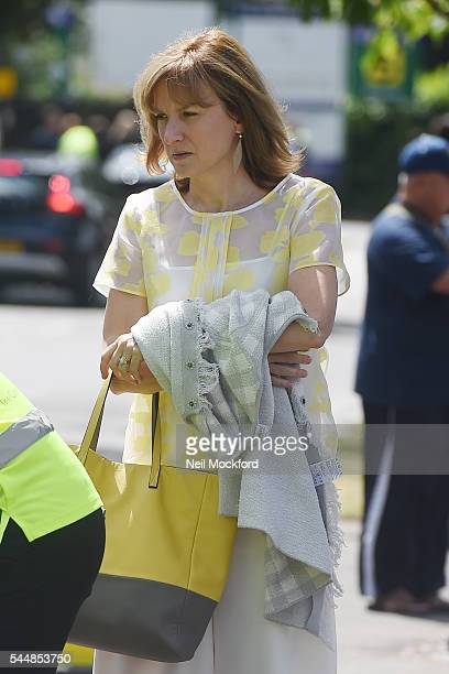 Fiona Bruce seen arriving at Day 8 of Wimbledon on July 4, 2016 in London, England.