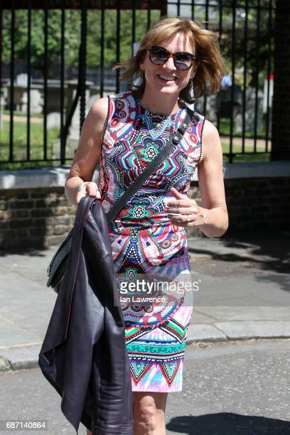 Fiona Bruce seen at the Chelsea Flower Show VIP day on May 22 2017 in London England