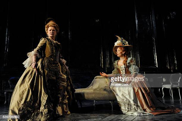 Fiona Button as Anne and Judi Dench as Madame de Montreuil perform in the Donmar's production of Yukio Mishima's play 'Madame de Sade' directed by...