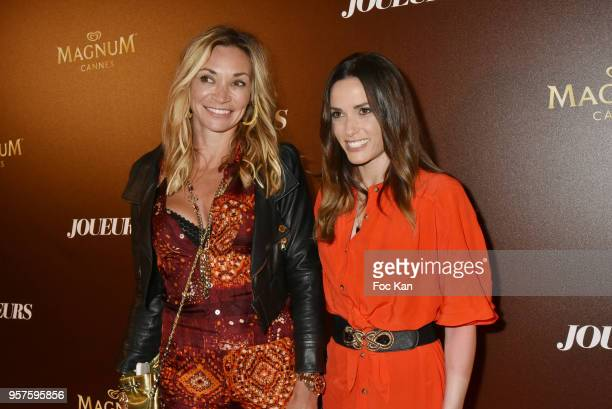 Fiona Cabaye and Capucine Anav attend Les Joueurs Party during the 71st annual Cannes Film Festival at Magnum Beach on May 11 2018 in Cannes France