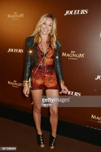 Fiona Cabaye attends Les Joueurs Party during the 71st annual Cannes Film Festival at Magnum Beach on May 11 2018 in Cannes France