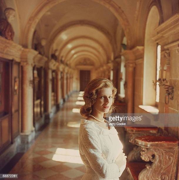 Fiona Campbell-Walter, wife of Baron Heinrich Thyssen, probably at Villa Favorita.