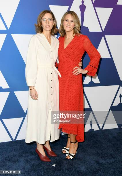 Fiona Crombie and Alice Felton attends the 91st Oscars Nominees Luncheon at The Beverly Hilton Hotel on February 04 2019 in Beverly Hills California