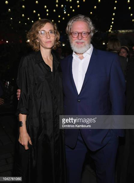 Fiona Crombie and Tony McNamara attend 56th New York Film Festival Opening Night Premiere Of The Favourite After Party at Tavern On The Green on...