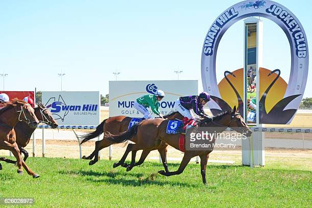 Fiona Crystal ridden by Dean Yendall wins Noel Watson Real Estate BM64 Handicap at Swan Hill Racecourse on November 27 2016 in Swan Hill Australia