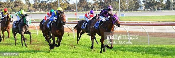 Fiona Crystal ridden by Jessica Eaton wins Swan Hill Bus Lines BM58 Handicap at Swan Hill Racecourse on September 23 2016 in Swan Hill Australia