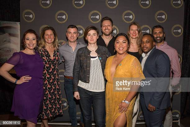 Fiona Dawson Amy Nauiokas Zeke Stokes Gabe Silverman Jamie Coughlin and Vinay Signh Jennifer Peace Layla Ireland and El Cook attend the GLAAD and...