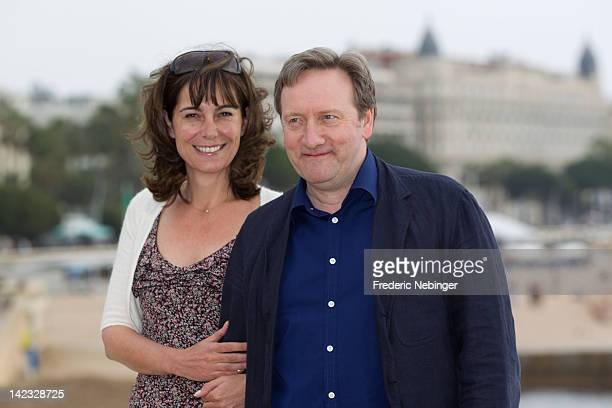 Fiona Dolman and Neil Dudgeon attend a photocall for 'Midsomer Murders' as part of MIP TV 2012 at Majestic Beach on April 2 2012 in Cannes France