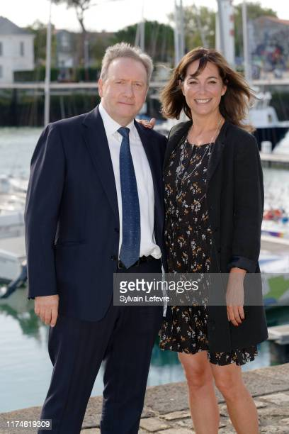 Fiona Dolman and Neil Dudgeon attend the 21th Festival of TV Fiction At La Rochelle Day Four on September 14 2019 in La Rochelle France