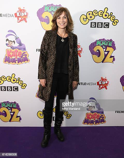 Fiona Dolman arrives at Kate & Mim-Mim: Kate in Oz UK Premiere at Curzon Soho on October 22, 2016 in London, England.