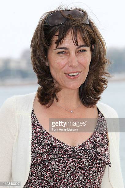 """Fiona Dolman attends """"Midsomer Murders"""" Photocall as part of MIP TV 2012 Hotel Majestic on April 2, 2012 in Cannes, France."""